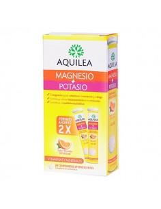 Aquilea Magnesio + Potasio Efervescente sabor naranja, 2x 14 Comprimidos