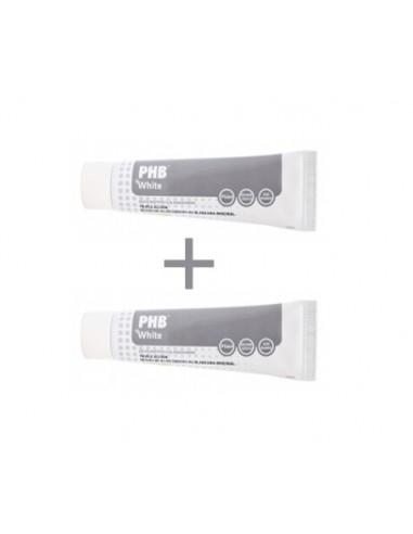 PHB White DUPLO Pasta Dentifrica Blanqueadora, 2X 125ml