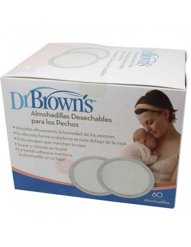 Dr Brown´s Almohadillas Desechables Lactancia, 60Ud