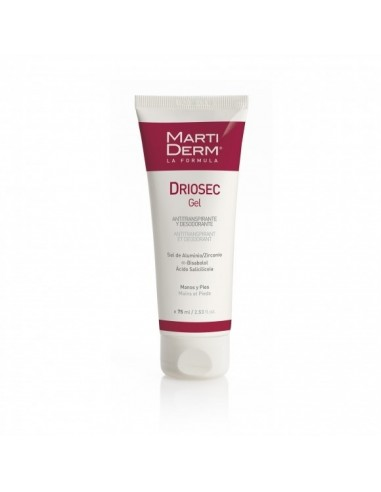 Martiderm Driosec Gel antitranspirante Manos y Pies75 ml