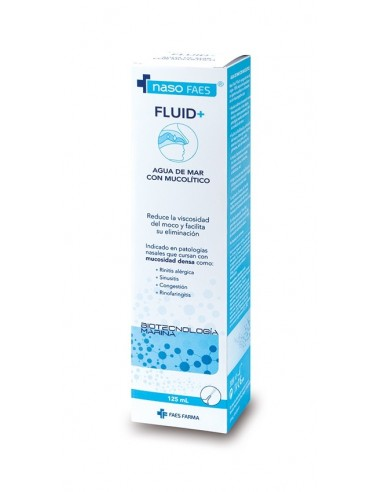 Naso Faes Fluid+ Agua de Mar con Mucolitico Spray 125ml