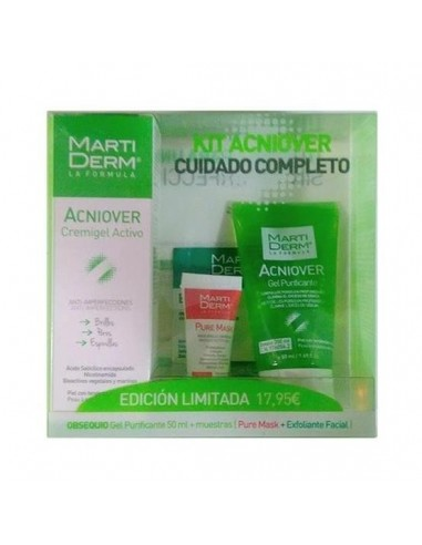 Martiderm Pack Acniover Cremagel Hidratante + REGALO Acniover Gel Purificante 50ml + Mascarilla Purificante 5ml
