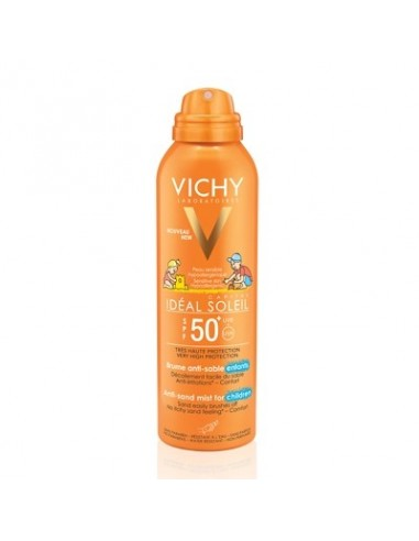 Vichy Ideal Soleil Aerosol Antiarena  Infantil Rostro/Cuerpo SPF50 200 ml