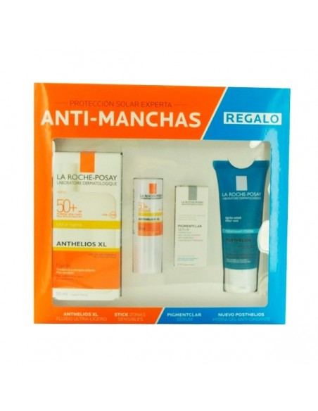 La Roche Posay Anthelios XL Fluido Ultra ligero SPF 50+, 50ml + Stick Zonas Sensibles 9ml + REGALO Posthelios 40ml