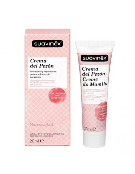 Suavinex Crema Cuidado del Pezón, 20ml
