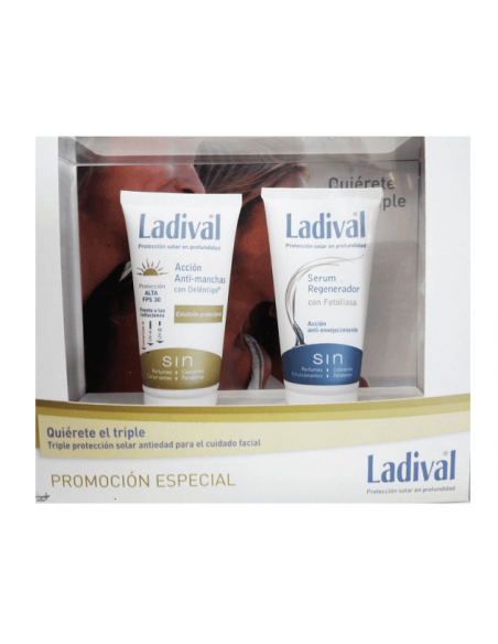 Ladival Pack Serum Regenerador 50ml + Anti Manchas SPF50+ 50ml