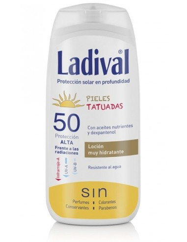 Ladival Locion Fotoprotector Pieles Tatuadas SFP50, 200ml