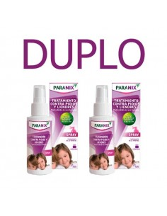 Paranix DUPLO Spray Tratamiento Pediculicida, 2x100ml