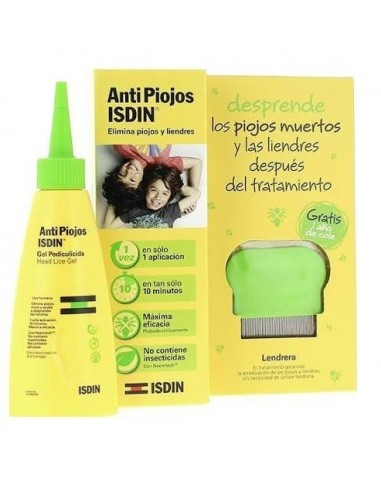 Isdin AntiPiojos Gel Pediculicida, 100ml Pack Lendrera