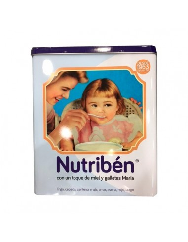 Nutribén 8 Cereales con un toque de Miel y galletas Maria, 2X300g