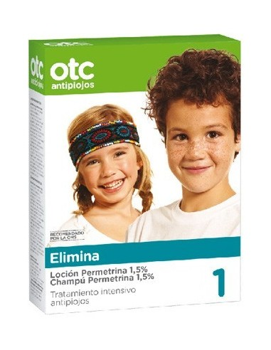 OTC Antipiojos Pack Elimina Permetrina 1,5%, 2x 125ml