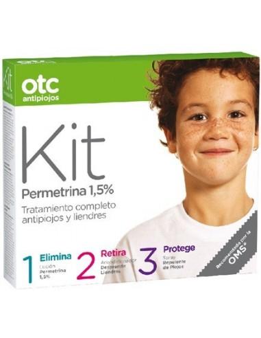 OTC KIT 1 2 3 permetrina 1.5% ANTIPIOJOS, 3x125ml