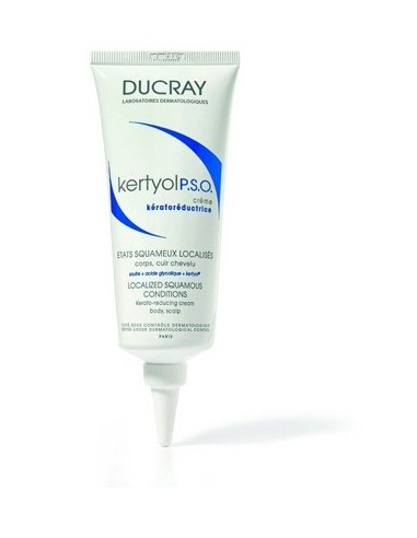 Ducray Kertyol PSO Crema Tratamiento Rojeces y Psoriasis cuerpo/cabello, 100ml