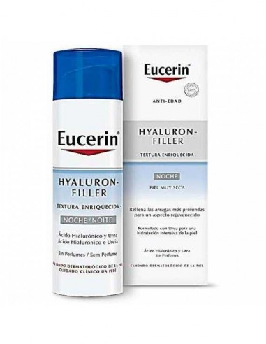 Eucerin Hyaluron-Filler Crema de noche piel muy seca, 50ml