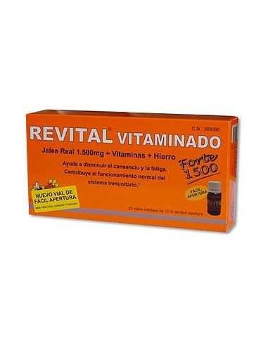 Revital Jalea Real Vitaminada Ampollas Bebibles, 20 Viales