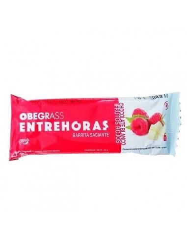 Obegrass Entrehoras chocolate blanco y frutos rojos, 1 barrita