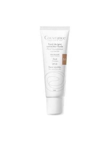 Avene Couvrance Maquillaje fluido corrector Tono Dorado, 30ml