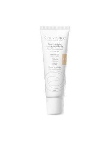Avene Couvrance Maquillaje fluido corrector Tono natural, 30ml
