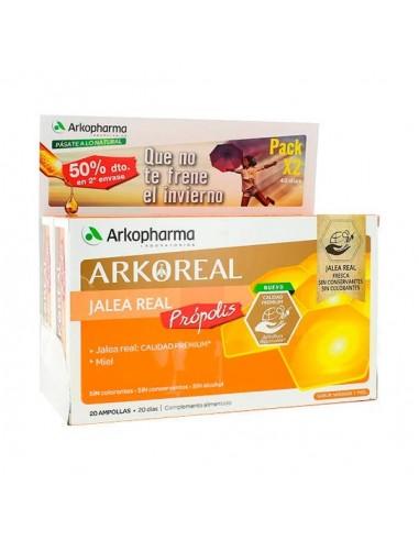 Arkopharma Jalea Real Vitaminada, 2x 20 Ampollas