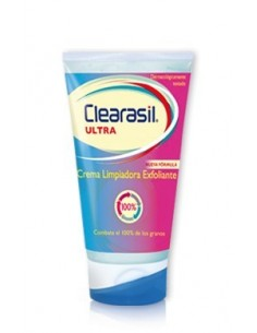 Clearasil Ultra Crema Limpiador Exfoliante Triple Acción, 150ml