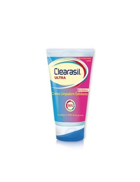 Clearasil Ultra Crema Limpiador Exfoliante Triple Acción, 150ml
