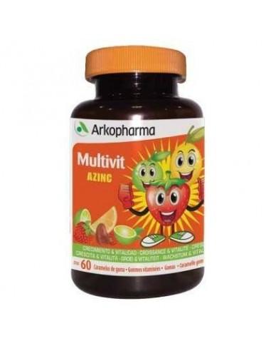 Arkopharma Multivit Azinc Caramelos Blandos Multivitaminados, 60Ud