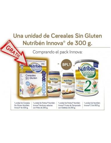 Nutribén Innova 2 Leche de Continuacion, 800g + 2 Potitos Innova + REGALO Cereales Innova sin gluten, 300g