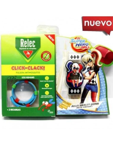 Relec Pulsera Antimosquitos Reloj Harley Quinn, 1Ud
