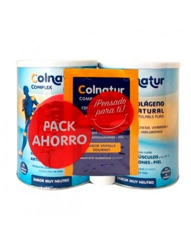 Colnatur complex Colágeno Magnesio, Vitamina C y Acido Hialuronico sabor Neutro, 2x330g