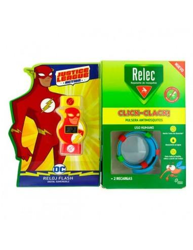 Relec Pulsera Antimosquitos Reloj Flash, 1Ud