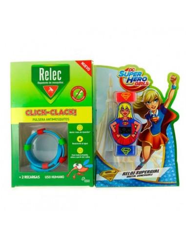 Relec Pulsera Antimosquitos Reloj Supergirl, 1Ud