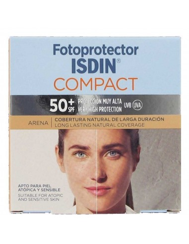 Isdin Fotoprotector Facial Compact 50 Oil-Free Arena, 10g
