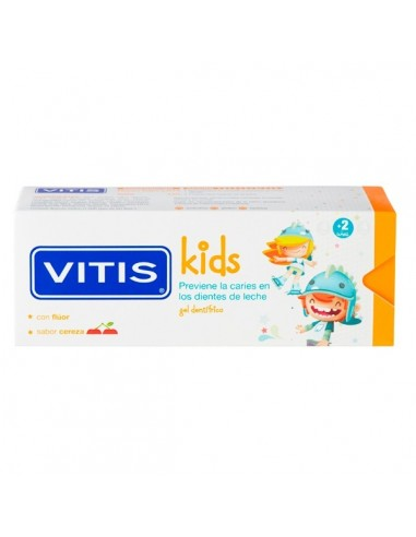 Vitis Kids Gel Dentifrico cereza, 50ml