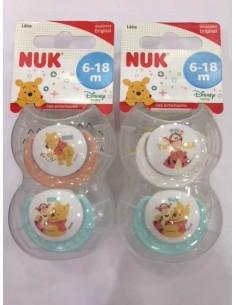 Nuk Chupete Winnie the Pooh T-2 Látex 6-18m, 2Ud