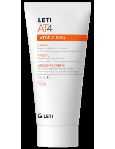 Leti AT-4 Crema Facial Pieles Atópicas y/o Secas, 100ml