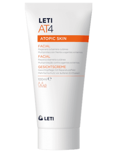 Leti AT-4 Crema Facial Pieles Atópicas y/o Secas, 100ml