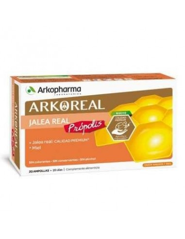 Arkochim Jalea Real  1000mg y Própolis, 20 Ampollas x 15ml