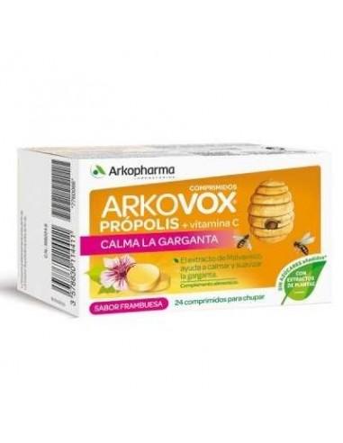 Arkovox Própolis Comprimidos para Chupar Sabor Frambuesa, 24 comprimidos