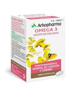 Arkocápsulas Omega 3, 100 Cápsulas