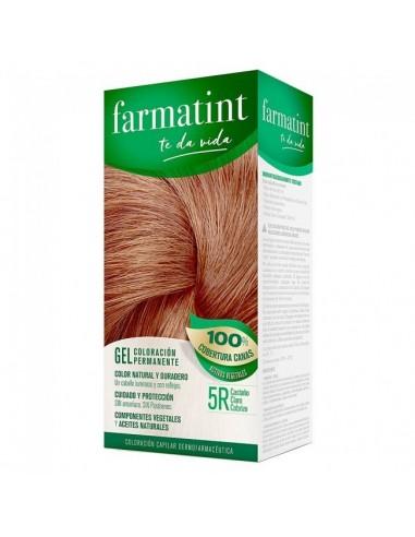 Farmatint Tinte Gel 5R Castaño Claro Cobrizo, 150 ml