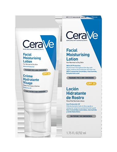 Cerave Loción Hidratante de rostro, 52ml