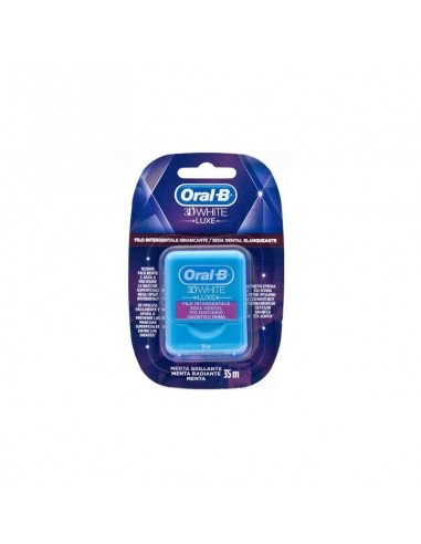 Oral B 3D White Luxe Seda Dental Blanqueante, 35m