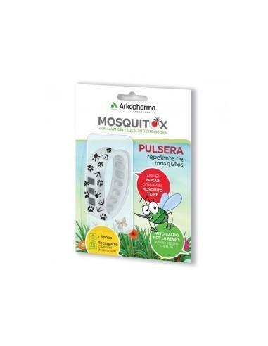 Arkopharma Pulsera Antimosquitos Mosquitox niños con Lavandín y Eucalipto +3años, 1 Ud