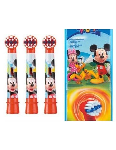 Oral-B Stages Recambio Cepillo Eléctrico Niños Mickey Mouse, 3Ud