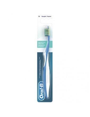 Oral-B Cepillo de Dientes Professional Protección de Encías Suave, 1 Ud