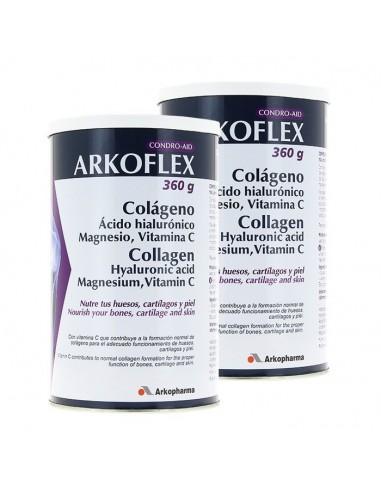 Condro-Aid Arkoflex Sabor Vainilla Colágeno, Ácido hialurónico, Magnesio, Vitamina C, 2x360 g