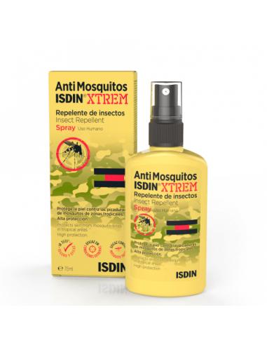 Isdin AntiMosquitos Xtrem Spray Repelente de Insectos, 75ml