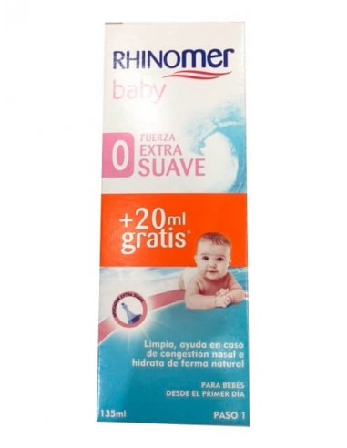 Rhinomer Baby Spray nasal Fuerza Extra suave, 115ml + GRATIS 20ml