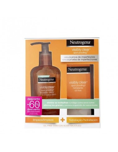 Neutrogena Visibly Clear Spot Proofing Hidratante Oil free, 50ml + limpiador, 200ml