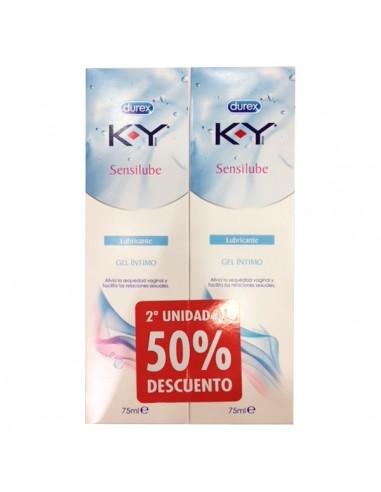 K-Y Gel Lubricante Hidrosoluble Intimo 75ml 2 U